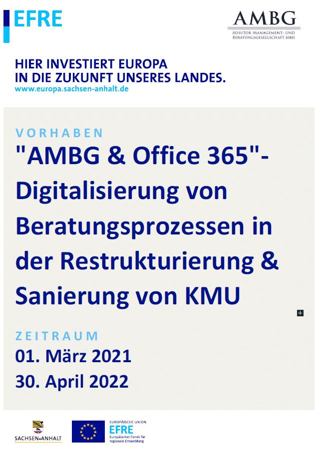 Plakat zum Förderprojekt der AMBG